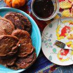 Chocolate Protein Vegan Pancakes
