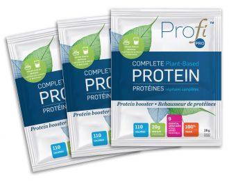 Pochettes de poudre de protéines non aromatisées, paquet de 3